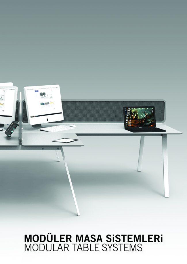 modüler masa web
